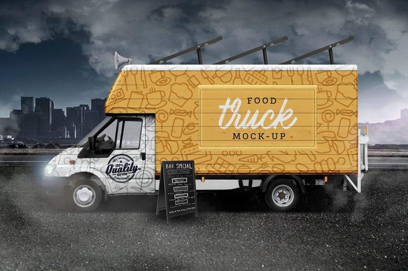 Street Food Truck Mockup
