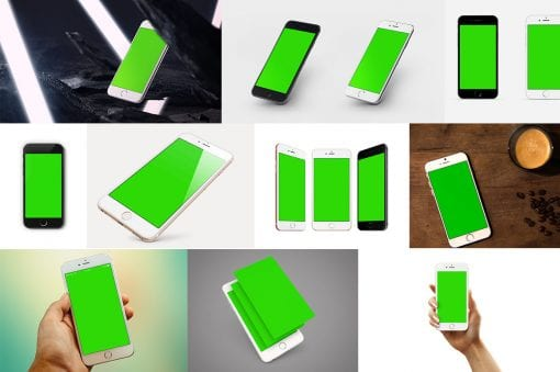 iPhone mockup cover