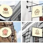 cake design logos mockup