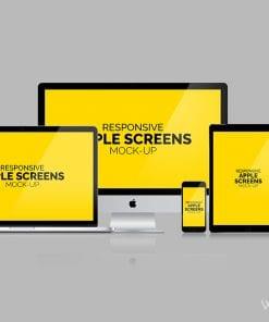 Apple Screens Mockups