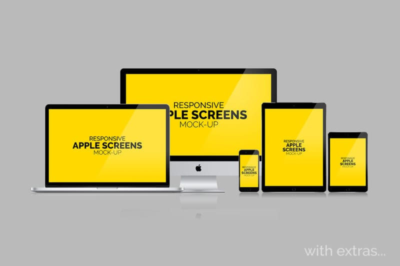Apple Screens Mockups