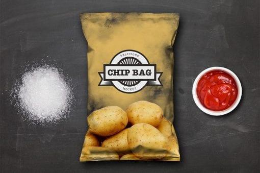Chip Bag Mockup cover