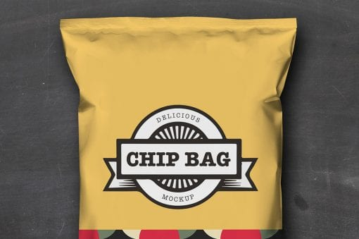 Chip Bag Mockup 3