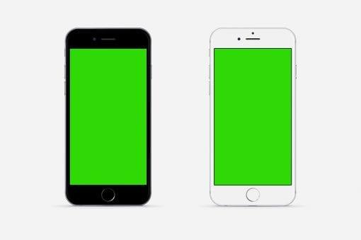 iPhone mockup 8