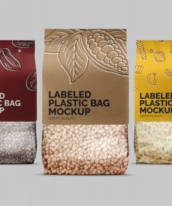 Label Plastic Bag Mockup