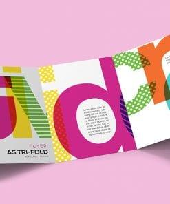 Tri-Fold A5 Brochure Mockup 1