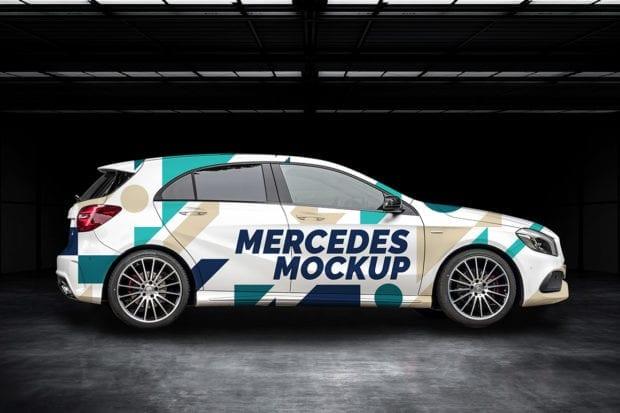 Mercedes A Mockup