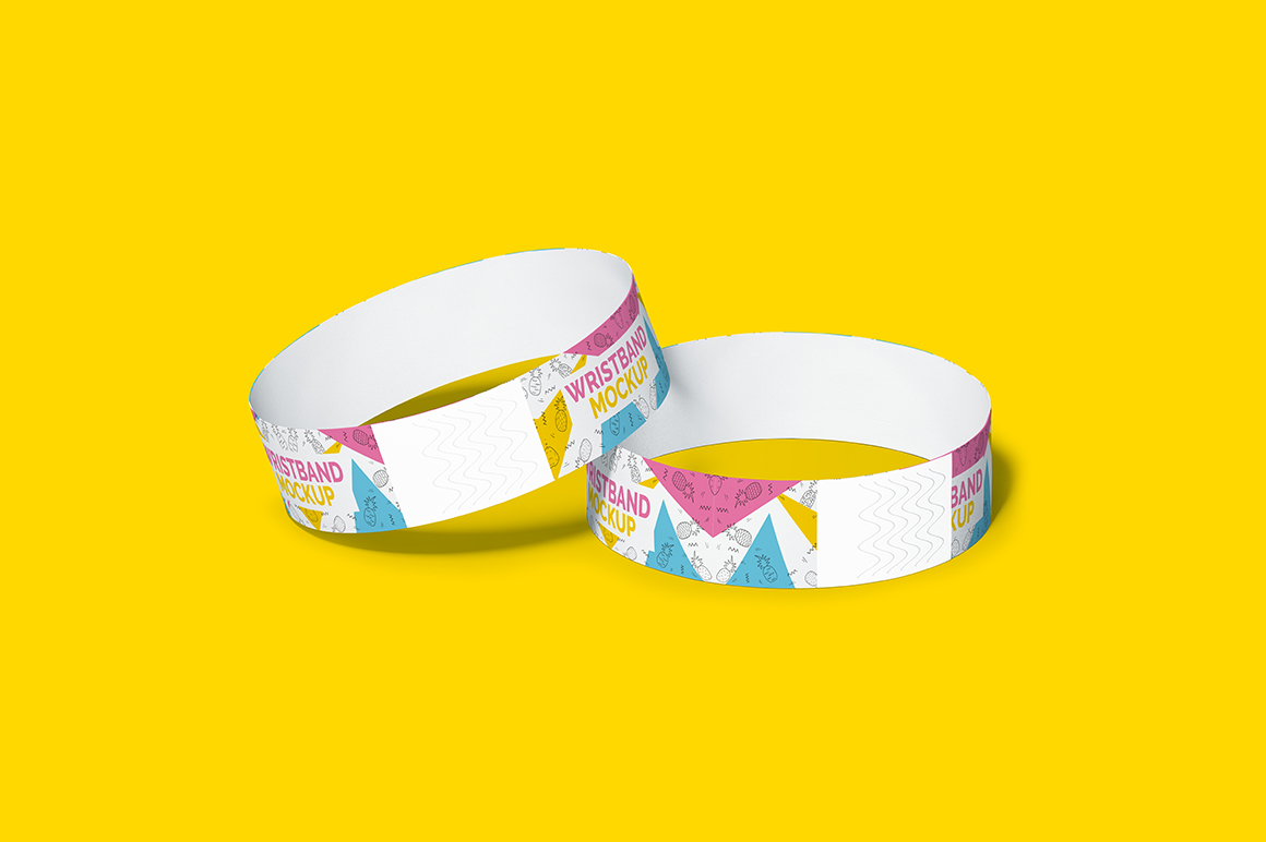 Event Wristband Bracelet Mockup Mockupslib