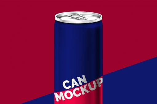 Energy Drink Can Mockup 1