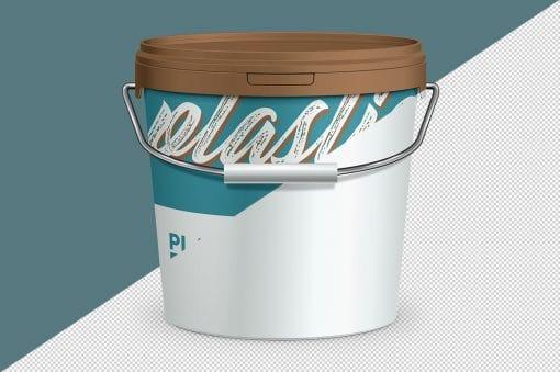Plastic Paint Bucket Mockup 1