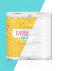 Pack of Paper Roll Mockup 2