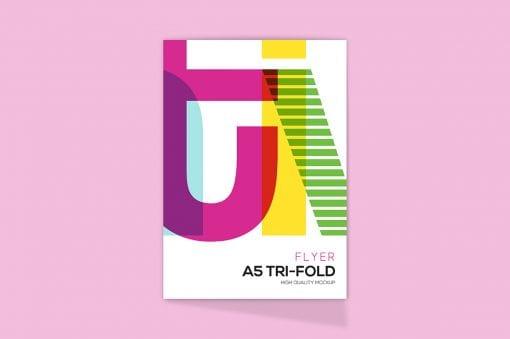 Tri-Fold A5 Brochure Mockup 2