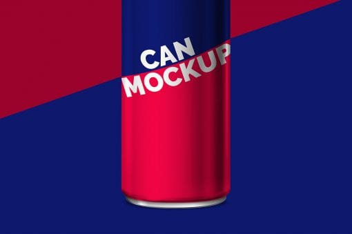 Energy Drink Can Mockup 2