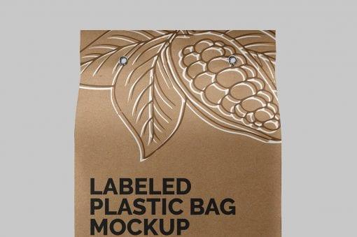 Label Plastic Bag Mockup 3