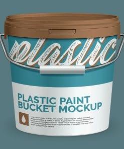 Plastic Paint Bucket Mockup 2