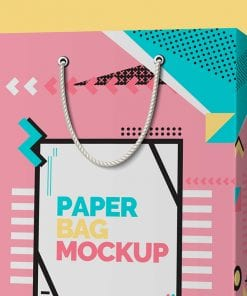 Paper Shopping Bag Mockup 3