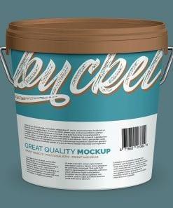 Plastic Paint Bucket Mockup 3