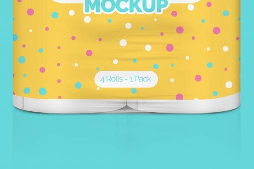 Pack of Paper Roll Mockup 4