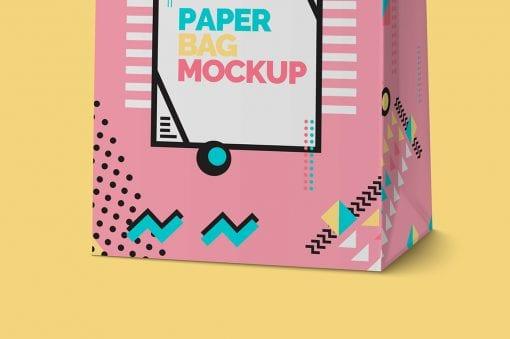 Paper Shopping Bag Mockup 4
