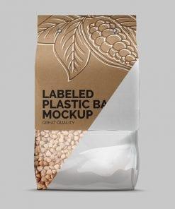 Label Plastic Bag Mockup 5