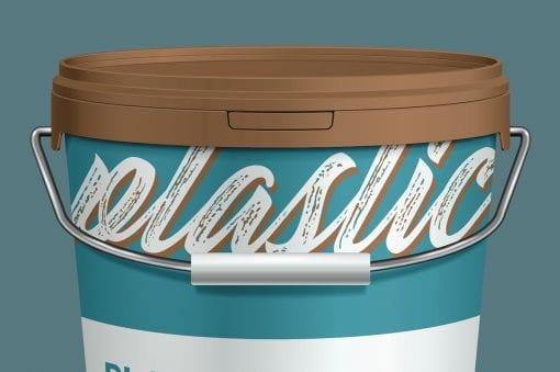 Plastic Paint Bucket Mockup 4