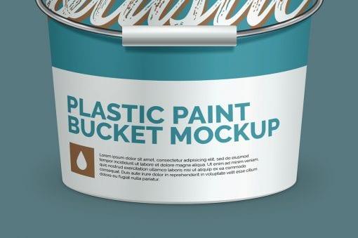 Plastic Paint Bucket Mockup 5