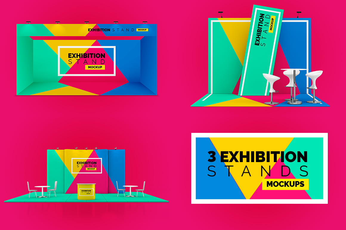Exhibition Stand Freebies : Exhibition stands mockups mockupslib