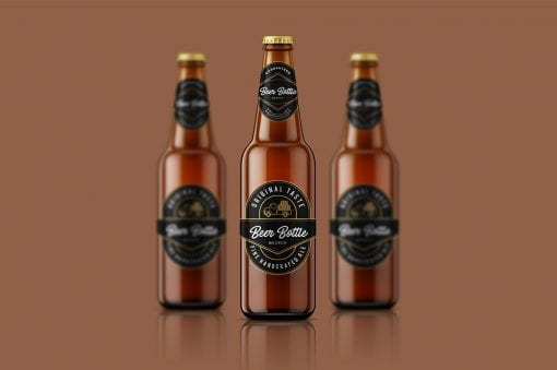 Beer Bottle Mockup 1