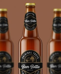 Beer Bottle Mockup cover