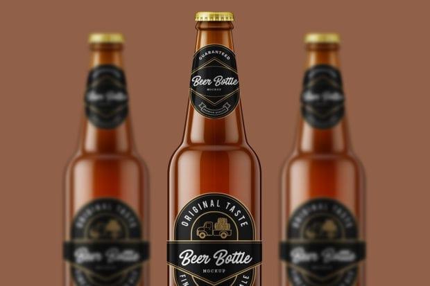 Beer Bottle Mockup cover